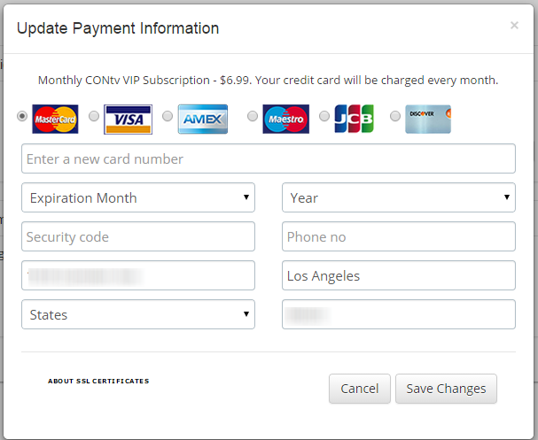 HOW DO I CHANGE MY PAYMENT INFORMATION? – CONtv Help