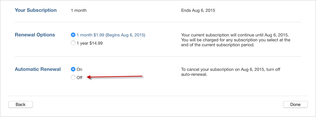 where is subscriptions in itunes